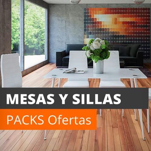 Pack mesas y sillas online. De cocina, comedor, jardín, plegables