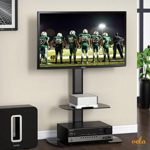 Soporte de tv y equipo de sonido giratorio