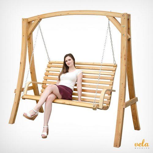 Balanc n de jard n online rel jate en tu columpio y for Balancin madera jardin
