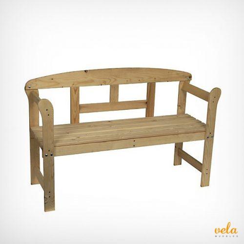 Bancos de jardin baratos de exterior madera forja - Banco madera exterior ...
