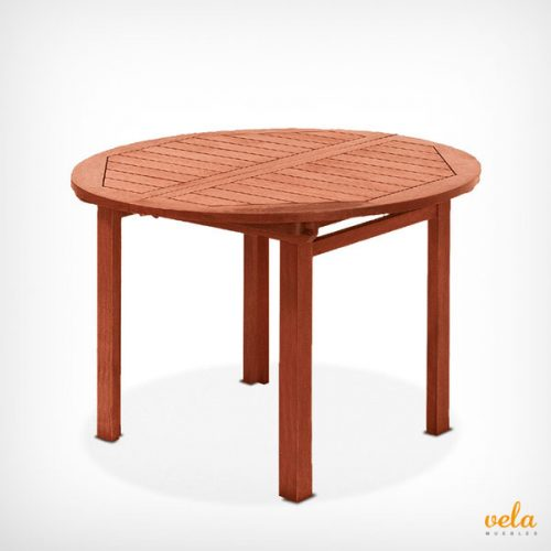 Mesa de jardín de madera extensible