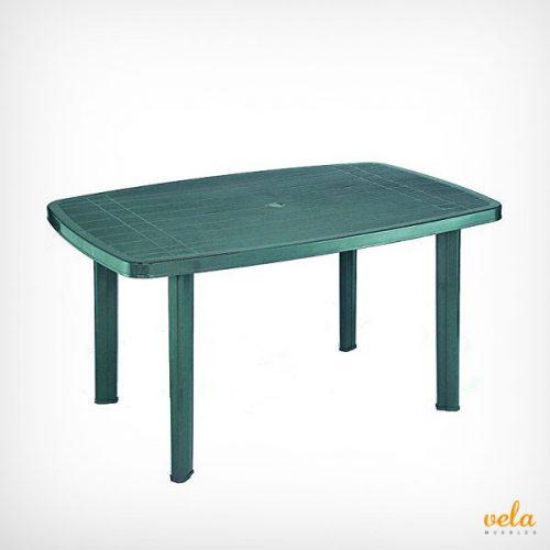 Mesa de jardín de resina plástico color verde