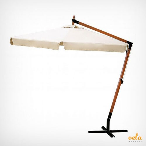 Parasol excéntrico de madera