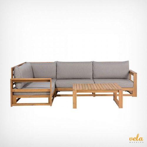 Sof s de jard n y terraza exterior arcon baratos for Sofa terraza madera