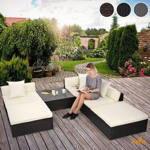 sofa jardin terraza esquinero con mesa