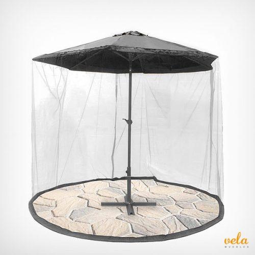 sombrilla terraza con mosquitera