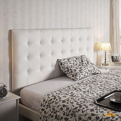 Cabeceros capitone baratos cabezal cama terciopelo - Cabecero capitone blanco ...