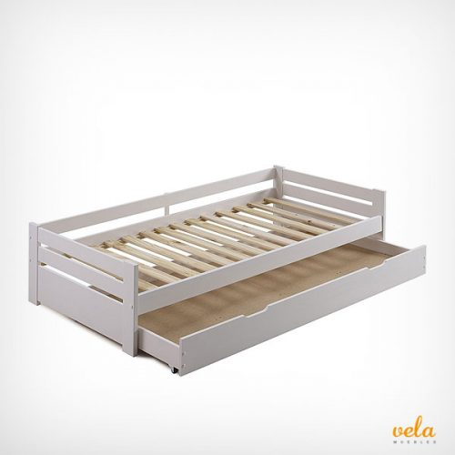 Camas nido baratas online con cajones blancas for Cama nido infantil con cajones