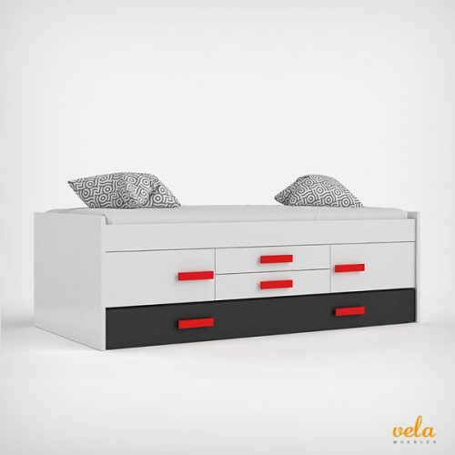 Camas nido baratas online con cajones blancas for Cama nido con cajones blanca