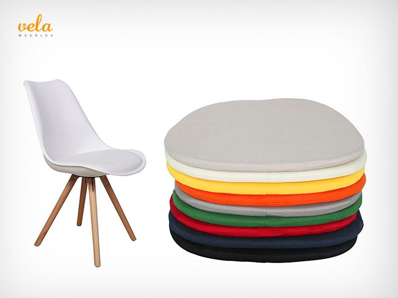 Sillas eames baratas online mecedora original r plica for Cojin silla oficina