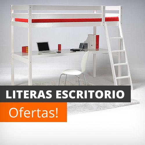 Literas baratas online con escritorio infantiles - Literas con escritorio debajo ...