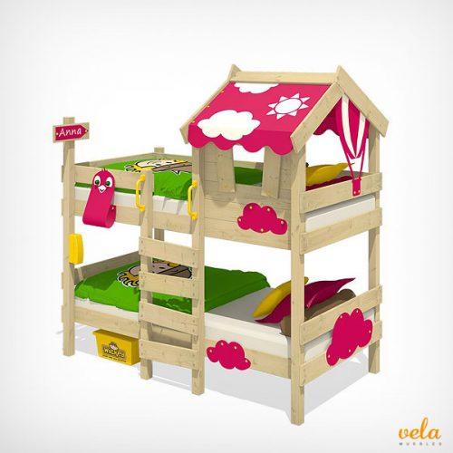 Literas infantiles baratas online triples con for Literas de madera para ninos