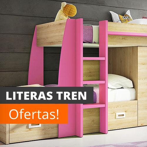 Literas baratas online con escritorio infantiles for Camas tipo tren baratas