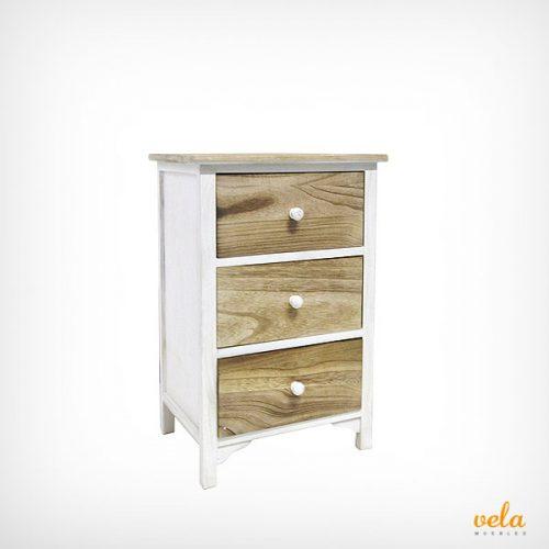 Mesitas de noche blancas baratas modernas vintage madera for Mesita noche estrecha
