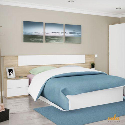 Cabeceros de cama de madera blanco vintage tallada for Mesitas noche originales