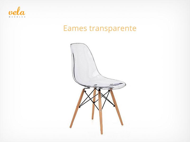 Silla Eames transparente barata