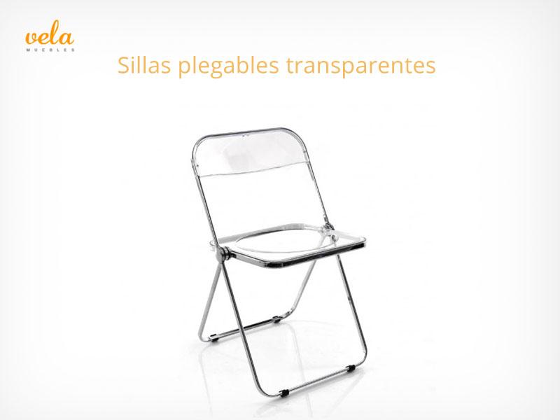 Sillas plegables transparentes