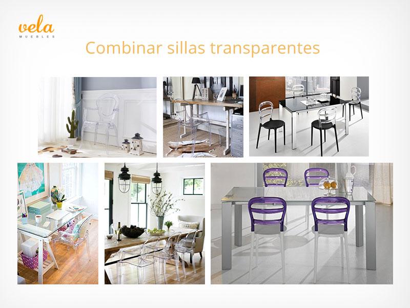 Combinar sillas transparentes