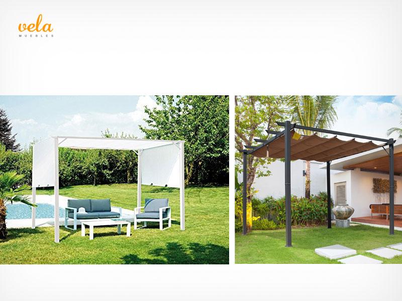 Carpas cenadores y p rgolas de jard n terraza camping for Carpas de madera para jardin