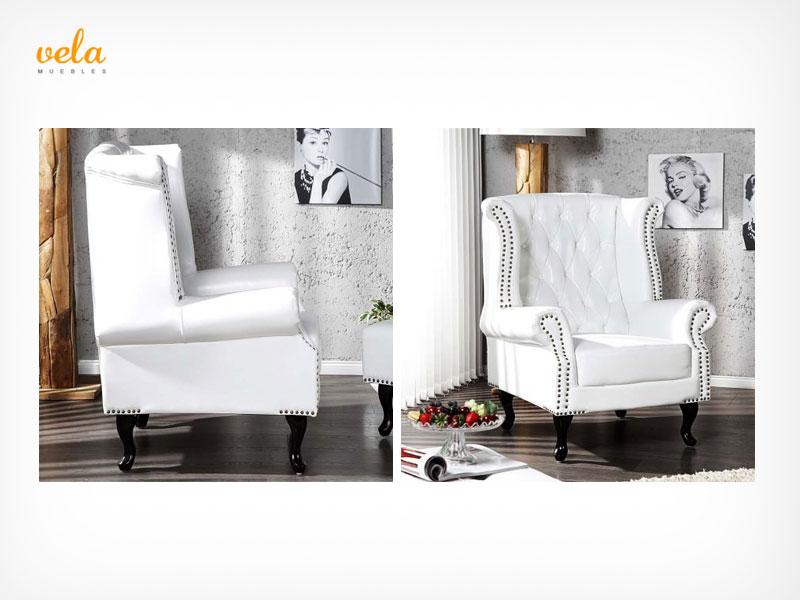 Sill n orejero barato moderno reclinable vintage for Sillon chester barato