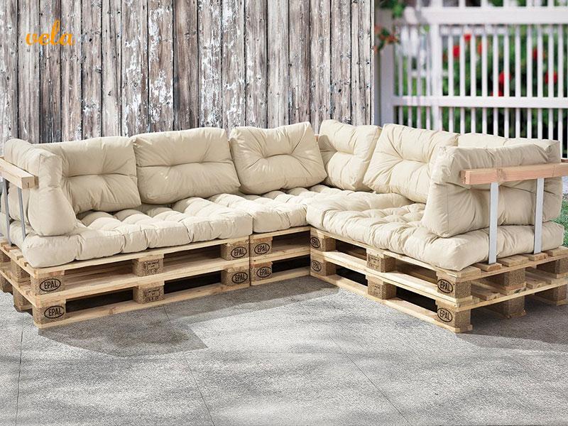 Sof palets exterior terraza y jard n los 8 m s baratos online - Sofas con palets ...
