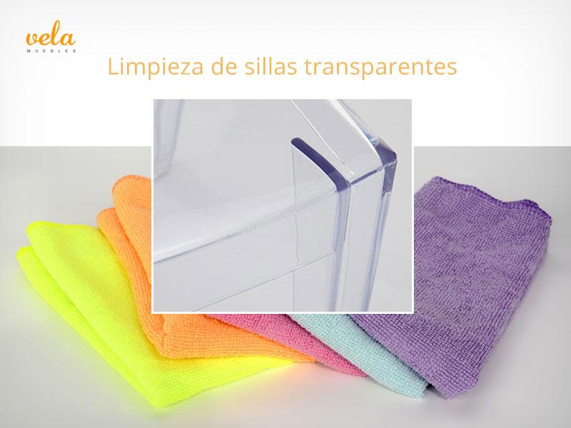 Limpieza de sillas transparentes