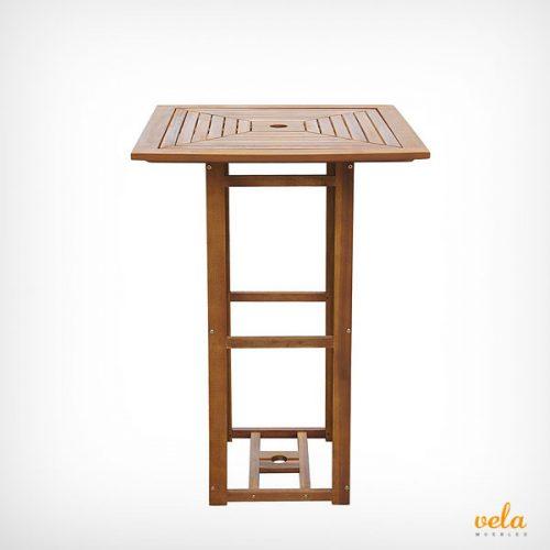 Las mesas altas para bar m s baratas de aluminio madera for Mesa alta madera bar