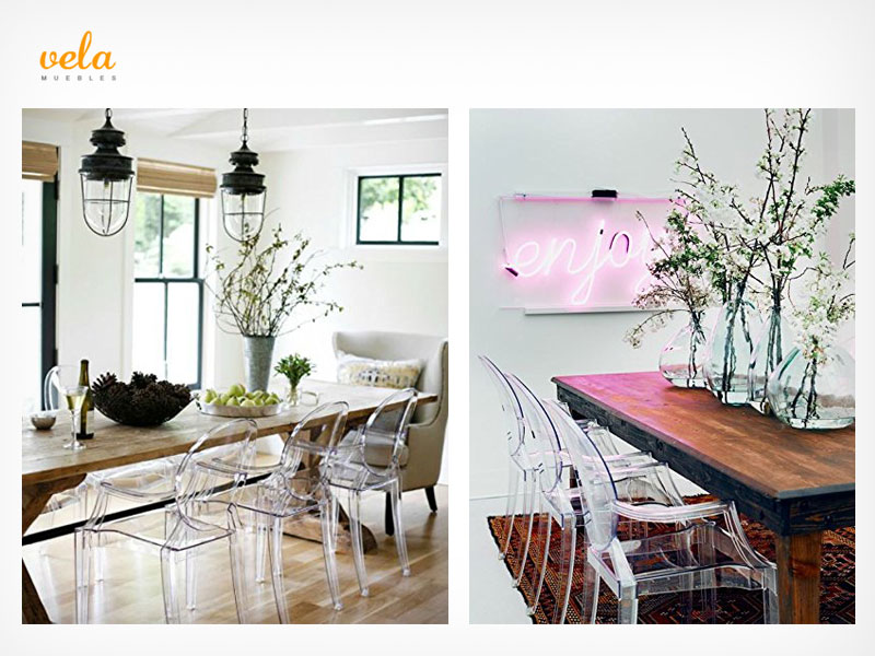 ▷ Sillas transparentes baratas | Eames Ghost, policarbonato ...