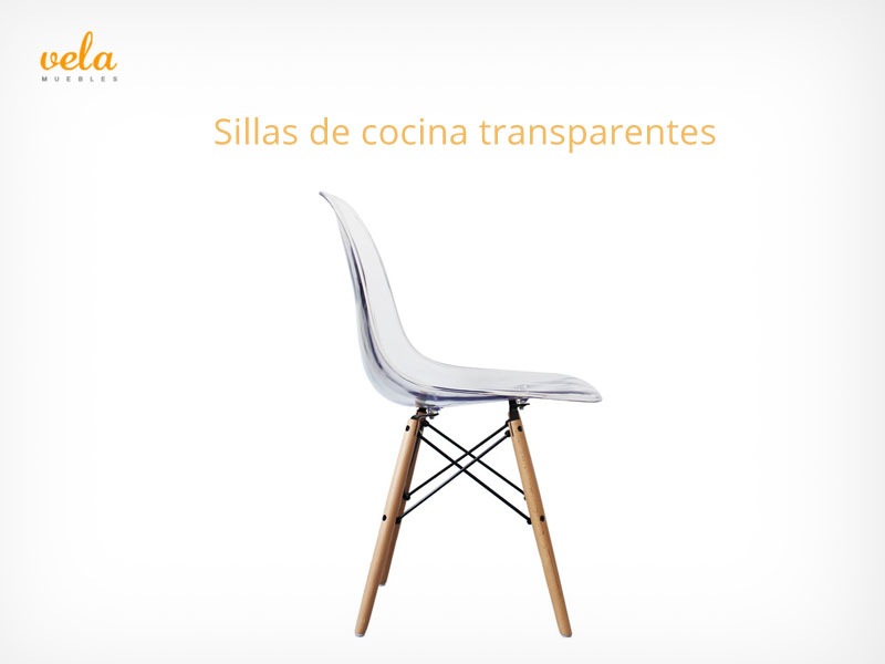 Sillas de cocina transparentes