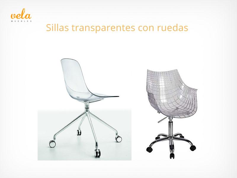 Sillas transparentes con ruedas