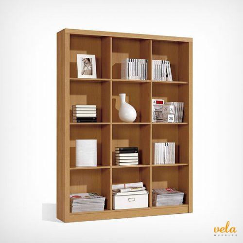 Libreria de madera de oficina