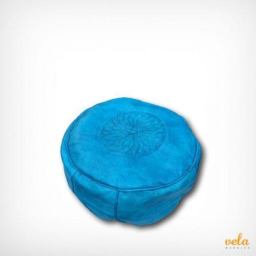 Puff marroquí azul