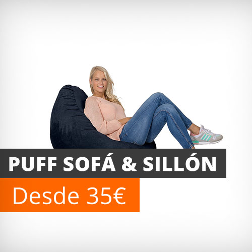 Puff sofá y sillón