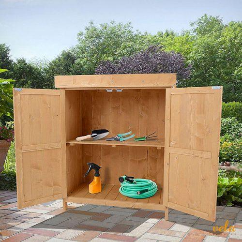 Cobertizo madera jardín
