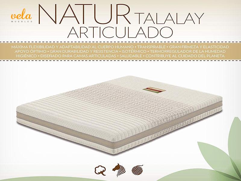 Colchón de látex Dorwin Natur Talalay Articulado