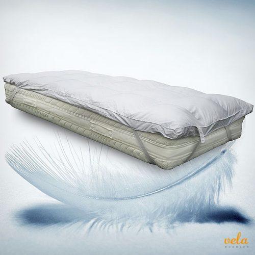 Topper colchón plumas