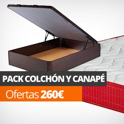 pack canape y colchon ofertas