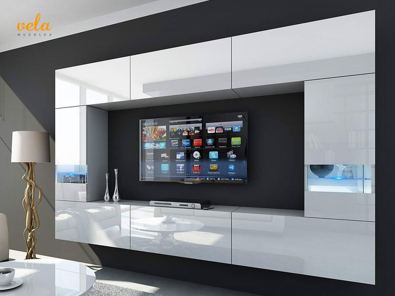 Muebles de salón de diseño minimalista