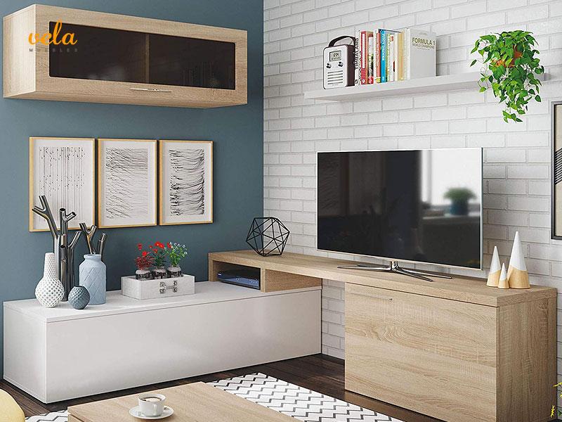 mueble de salón nexus roble esquinero