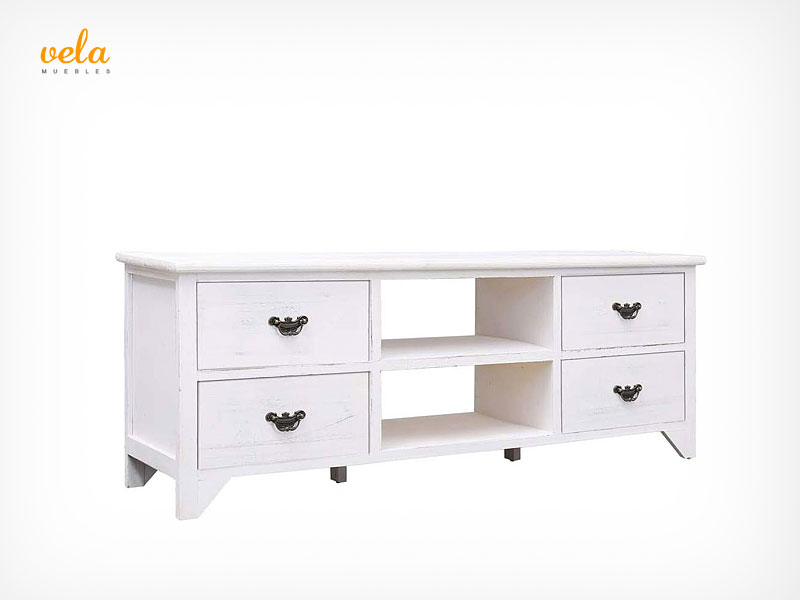 Mueble salon blanco antiguo