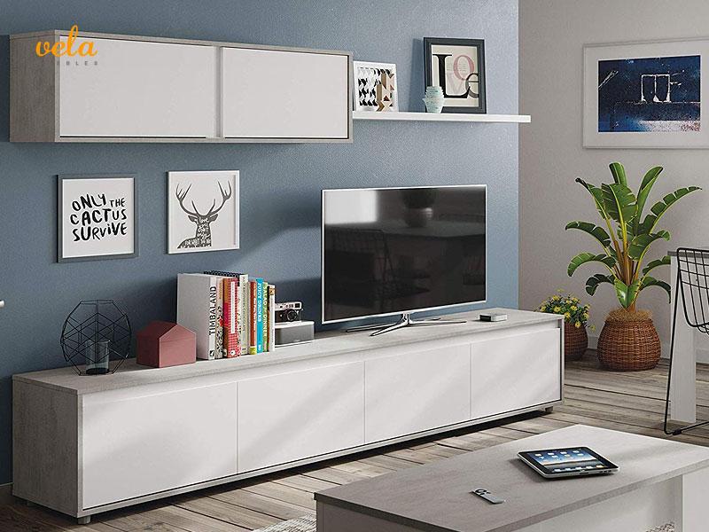 mueble salon gris