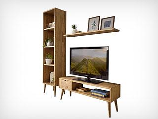 Muebles salón madera maciza