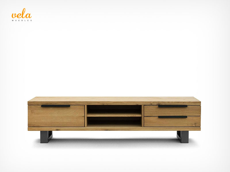 muebles de salon de madera maciza modernos