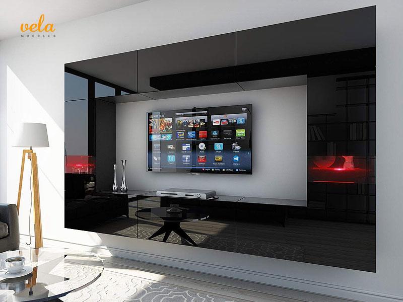 Muebles de salón modernos con led