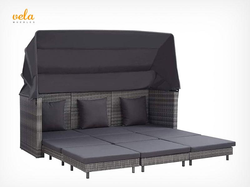Sofá cama exterior jardín terraza
