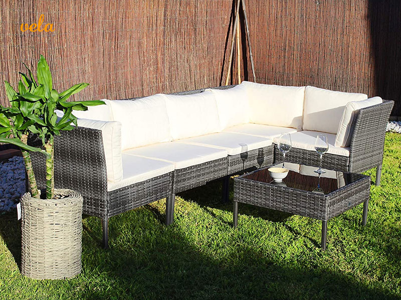 Sofa esquinero rinconera jardín terraza