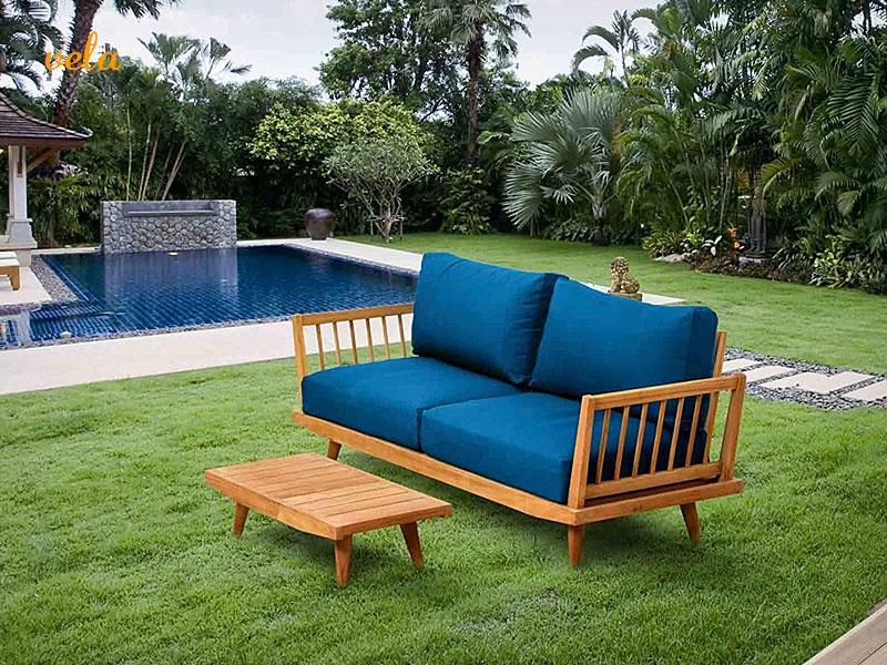 Sofa jardin madera. Terraza y exterior