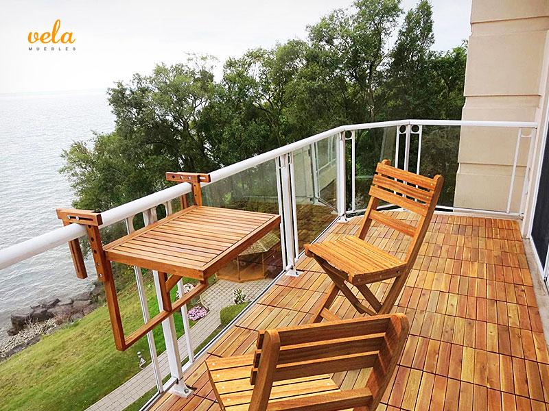 Mesa balcón colgante