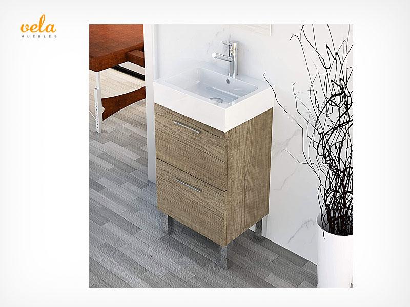 Muebles de baño pequeños y estrechos