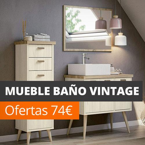 Muebles de baño vintage baratos online